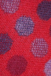 Close-up of red wool