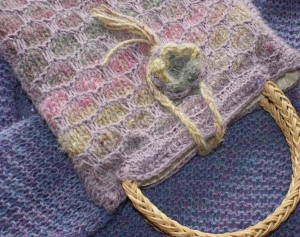 Mum's knitted bag and my old cardi