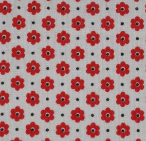 Red flower cotton print