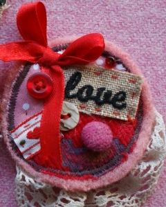 Round Love Brooch