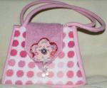 Pink tweed bag