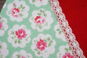 green rosebud print
