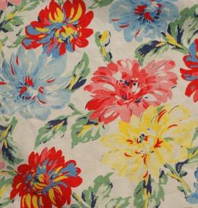 Vibrant vintage fabric