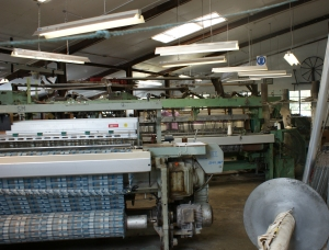 Inside a working woollen mill