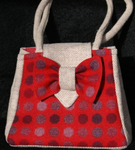 Red Wool handbag - made by me!