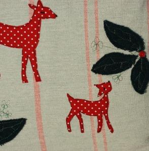 Red polka dot deer