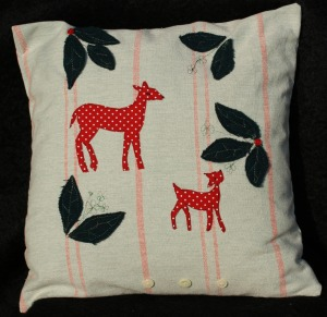'If you go down to the woods' cushion