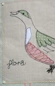 Flora on a cushion
