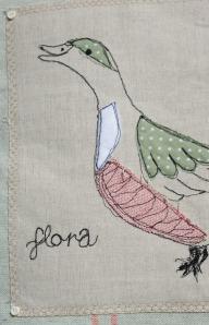 Flora on a cushion