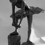 Robert Truscott - Tying her Ribbons - Bronze Sculpture