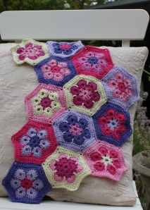 Flower hexagons - work in progress
