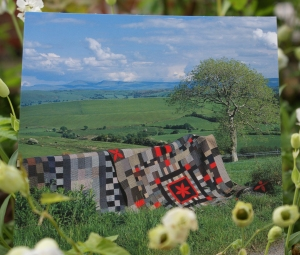 Welsh Quilts against the Brecon Beacons