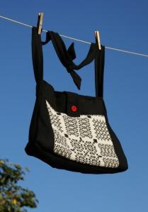 Black Wool Shoulder bag