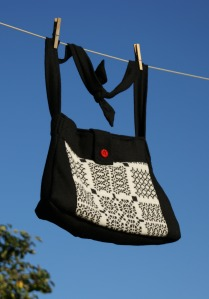 Black Wool Shoulder bag