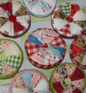 Pinwheel pincushions