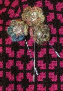 Flower Brooch Pins