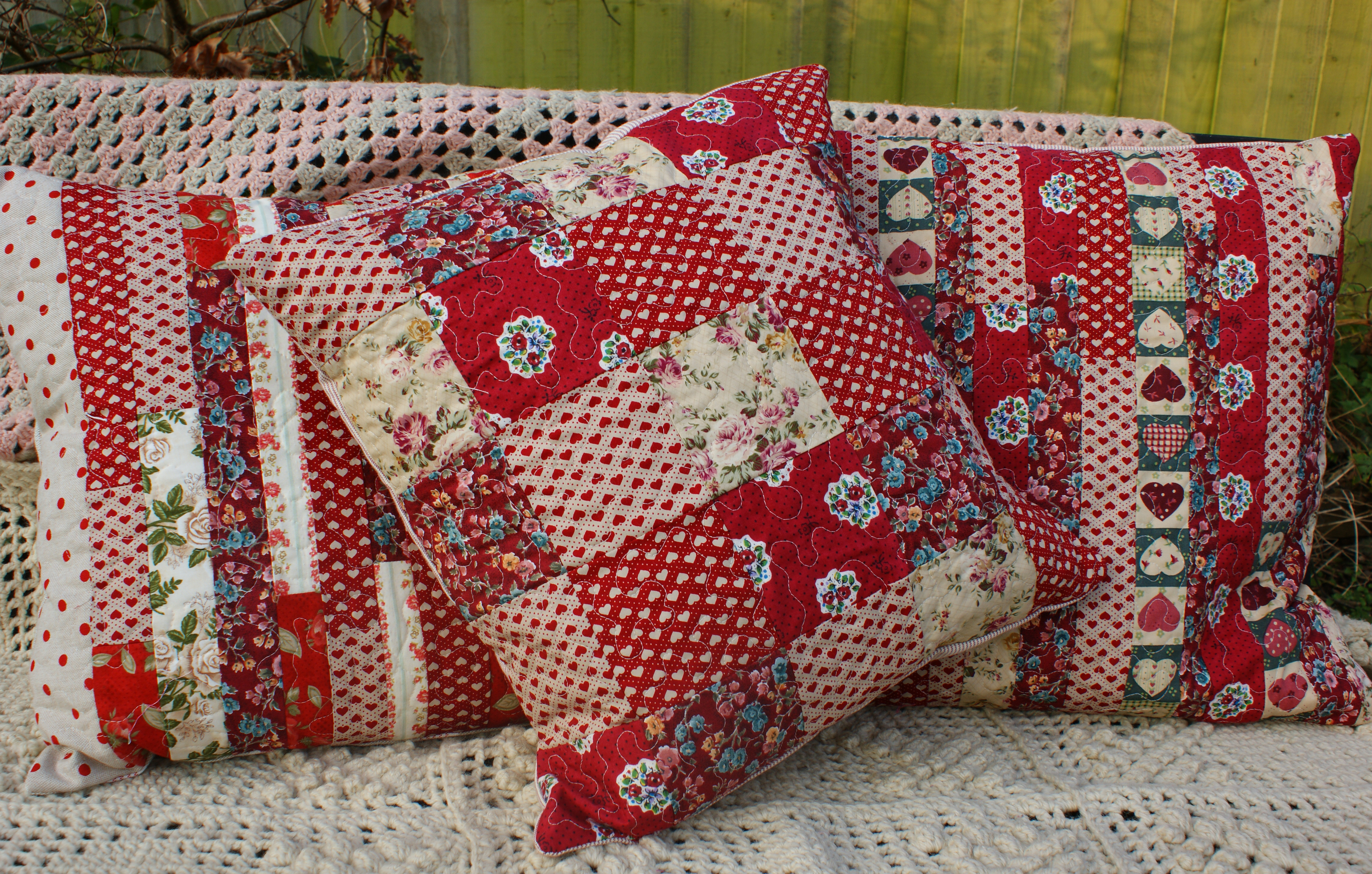 patchwork cushion Adaliza : patchwork trio from adaliza.com size 4592 x 2925 jpeg 9427kB
