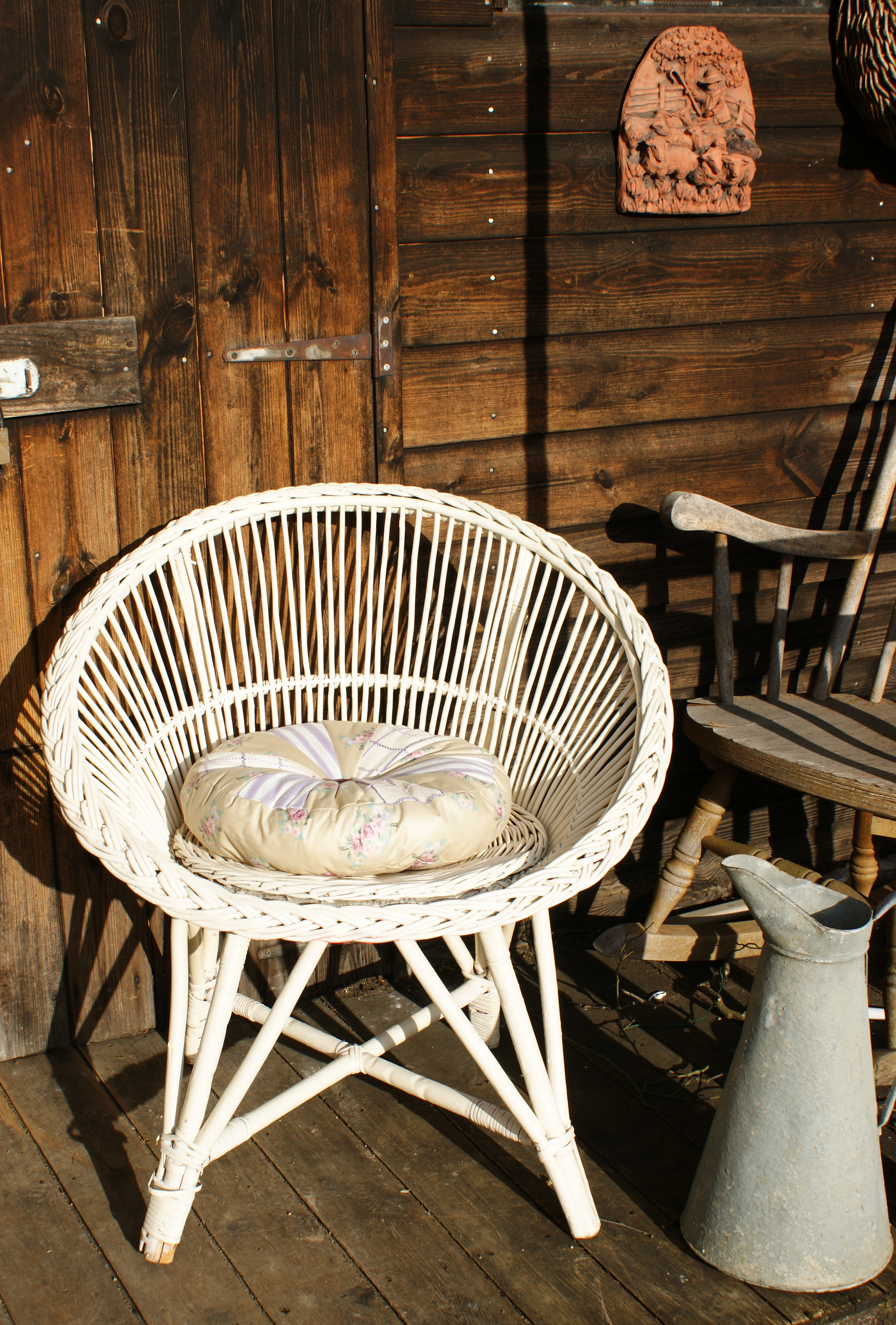 Vintage Wicker Chair | Adaliza