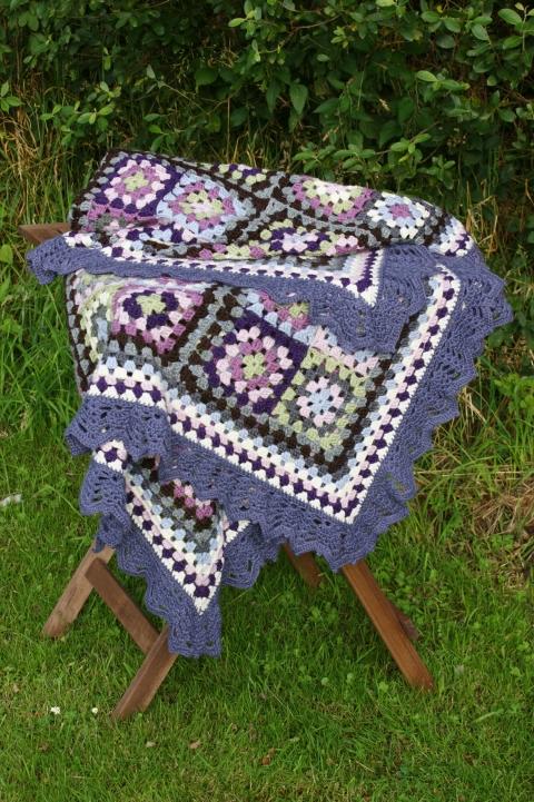 Misty Morning crochet blanket