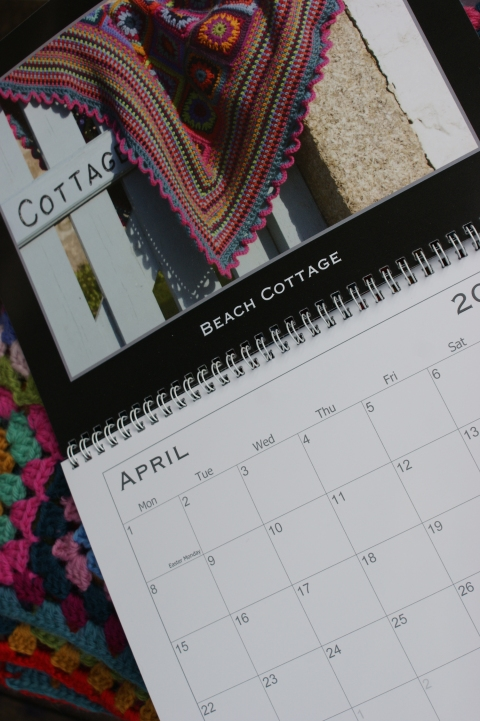 April - Beach Cottage & Gypsy Rose crochet blanket