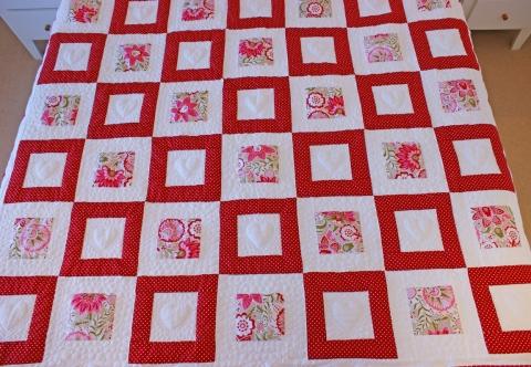 Scandinavian red and white blocks