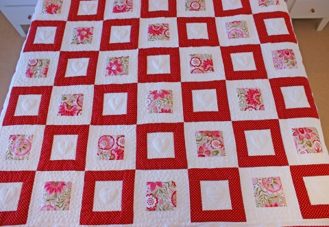 Scandinavian red and white blocks