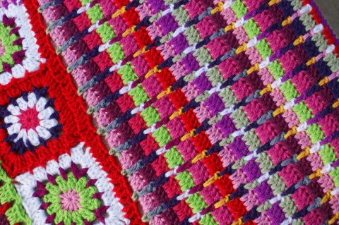 crochet tweed stitch variation