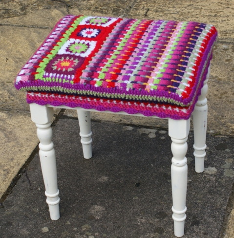 footstool renovation project - completed