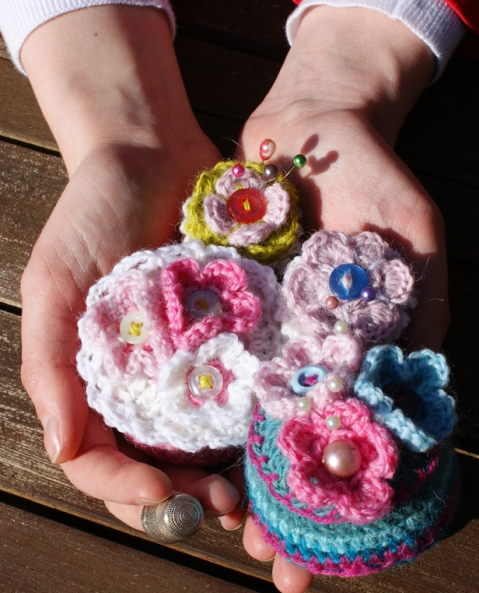 a handful of pretty pincushions