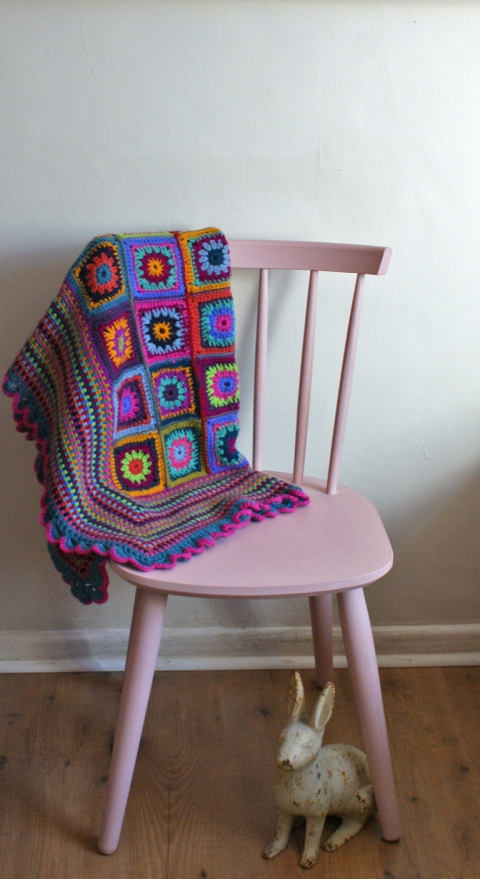 Pastel pink retro chair