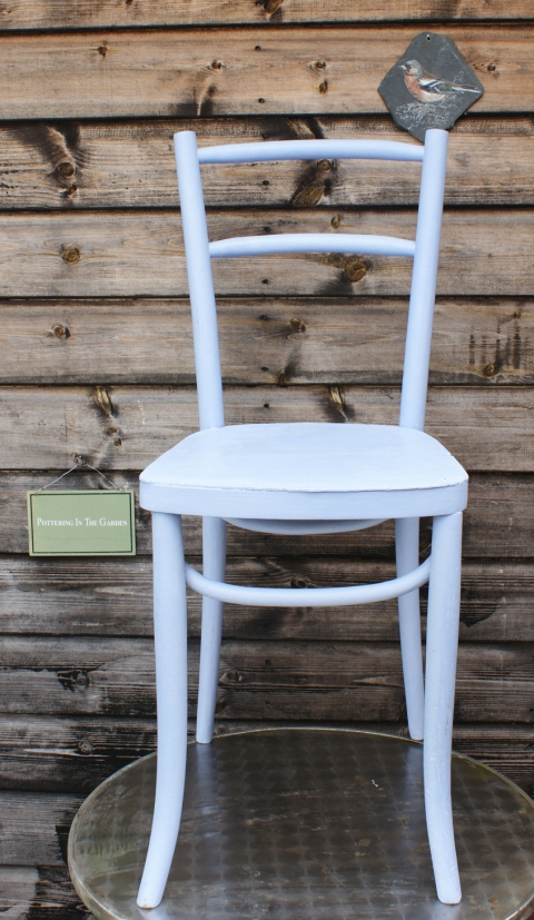 bentwood chair in Louis Blue
