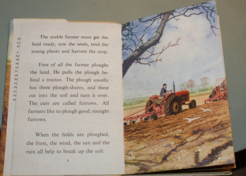 the farmer ploughing