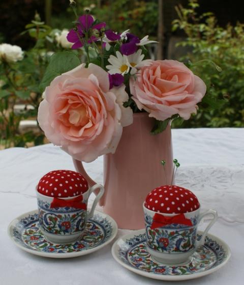 teacup pincuhions
