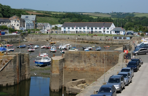 low tide in the harbour