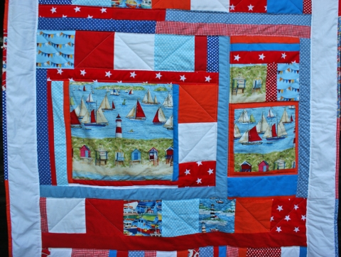 Seaside Windows & Flags quilt