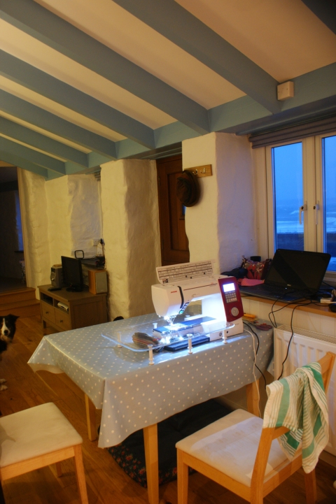 my sewing machine, on holiday