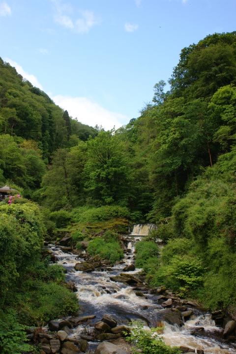 West Lyn river at Glen Lyn Gorge