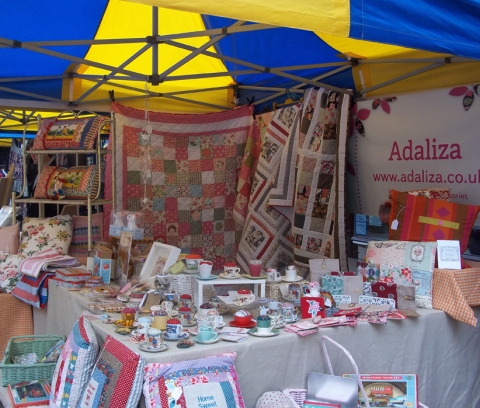 Retro Market in Winchester High Street