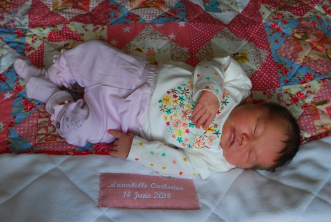 Annabelle and her quilt