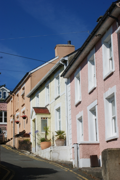 pretty seaside cottages on steep hills