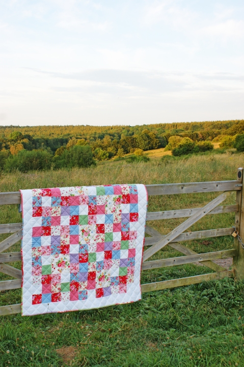 Summer Meadow Quilt - out on location