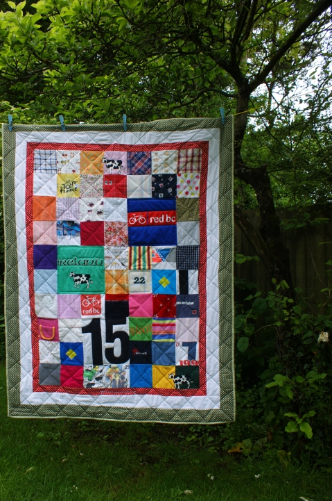 A quilt for a vet - spot the cows!