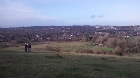 Awesome view of Winchester from St Catherine's Hill
