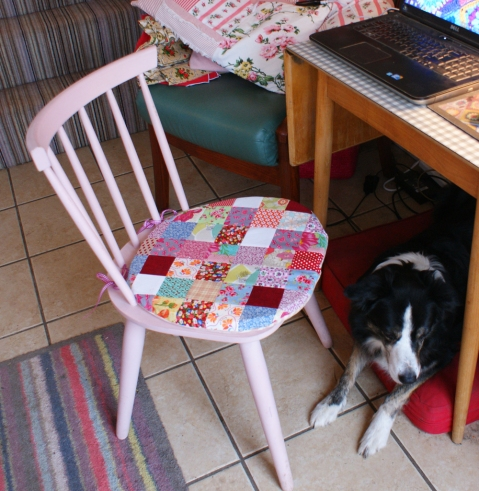 Misty's kitchen bed, under the table - in addition to her basket in the lounge and the sofa!