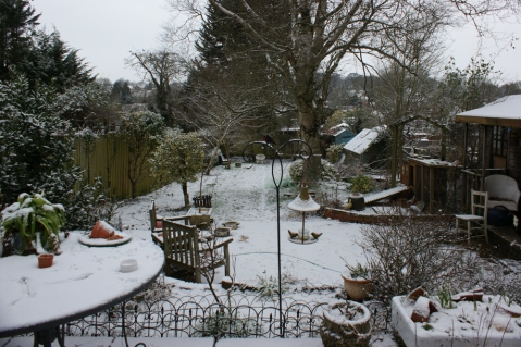 a dusting of the white stuff - there I am, just in the photo - on the right!
