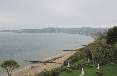 the view from our balcony, over Swanage Bay