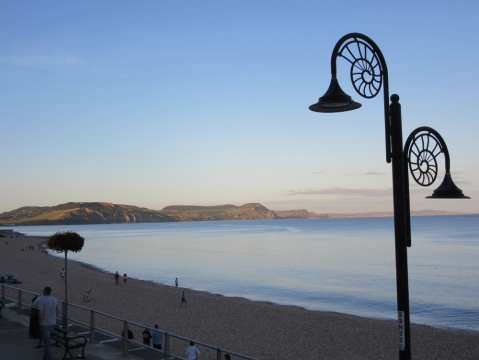 evening light at Lyme Regis