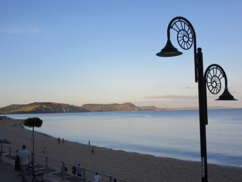 evening light at Lyme Regis