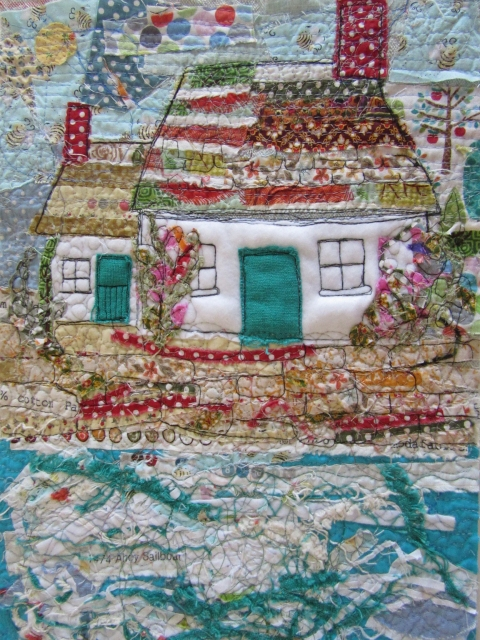 beach cottage fibre art