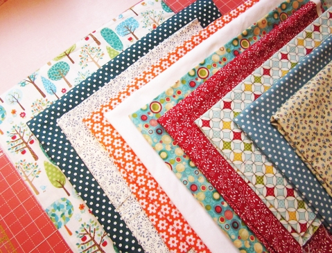 Walk in the Park quilt fabrics